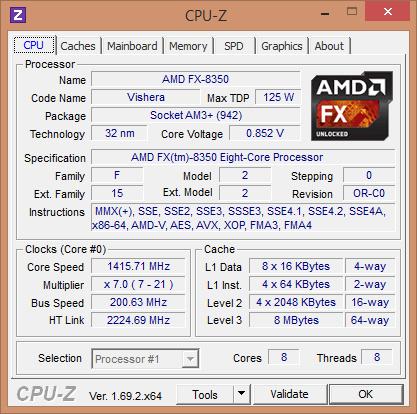 AMD FX 8350 on M4A89GTD PRO/USB3   adrift